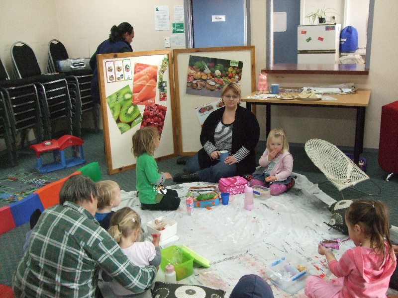 Taihape Playgroup, healthy lunch boxes session
